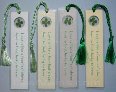 Four-leaf clover bookmark Green