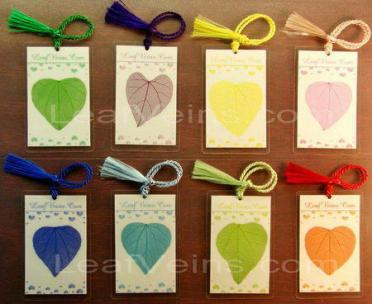 Heart Shaped Leaf Bookmark,Tag or Card, Small