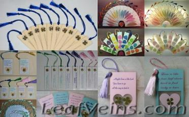 Leaf Bookmarks & Cards